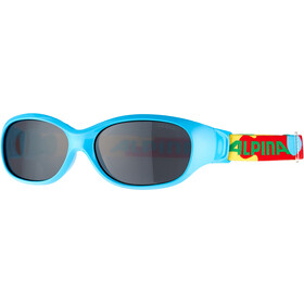 Alpina Sports Flexxy Glasses Kids cyan-puzzle